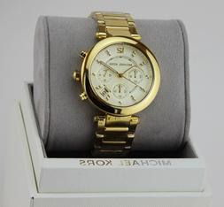 100% New Michael Kors Women's Parker Chrono Yellow Bracelet