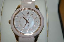Anne Klein Ladies 12/2224RGLP Light Pink Ceramic Watch w/ Mo