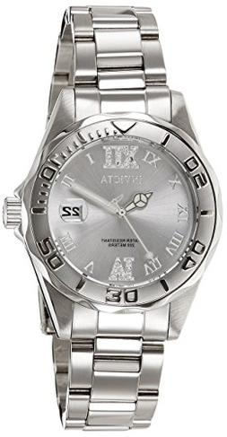 Invicta Women's 12851 Pro Diver Silver-Tone Watch with Cryst