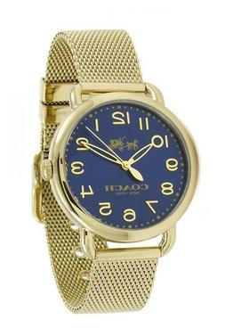 Coach 14502665 Delancey Blue Dial Gold Tone Stainless Steel