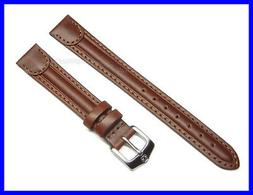 14mm Brown Leather Watch Band Strap for Wenger Ladies Watch