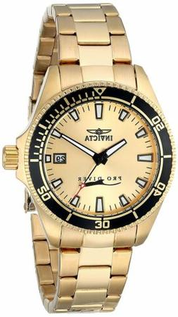 "Invicta Women's 15138SYB ""Pro Diver"" 18k Gold Ion-Plated Div"