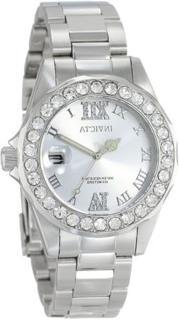 Invicta Women's 15251 Pro Diver Silver Dial Crystal Accented