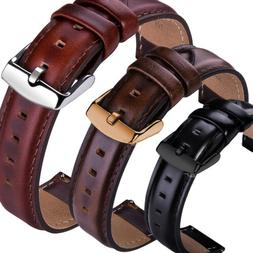 18 20 22mm Genuine Leather Wrist Watch Band Strap For Fossil