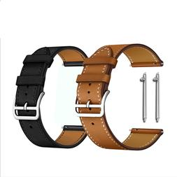 20 22mm Classic Genuine Leather Watch Band Men Women Quick R