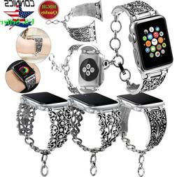 38/42mm iWatch Vintage Chain Strap Band For Apple Watch Seri