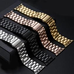 38MM 42MM Mens/ Womens Stainless Steel Metal Strap Band Brac