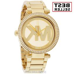 Brand New Michael Kors Women's Parker MK5784 Gold Stainless-