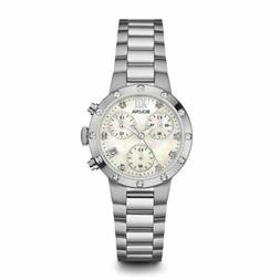 Bulova 96R202 Women's Chronograph Mother of Pearl Quartz Wat