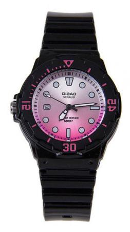 Casio Women's Analog Quartz 100m Black Resin Watch LRW200H-4