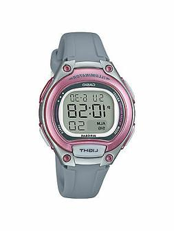 Casio Women's  Quartz Digital Illuminator Pink Resin Band 34