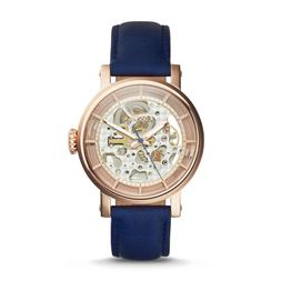 FOSSIL ME3086 Original Boyfriend Automatic Navy Leather 38mm