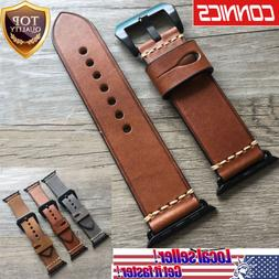 For Apple Watch Series 1~4 Luxury Retro Genuine Leather iWat