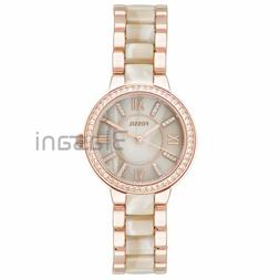 Fossil Original ES3716 Women's Virginia Rose Gold / Horn Ace