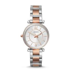Fossil Women Carlie Three-Hand Two-Tone Stainless Steel Watc