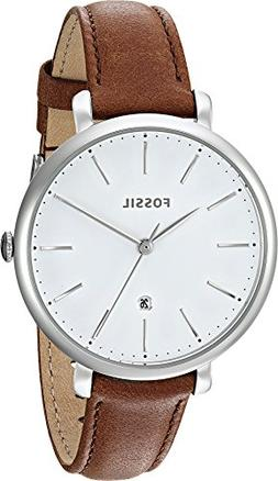 Fossil Women's 'Jacqueline' Quartz Stainless Steel and Leath