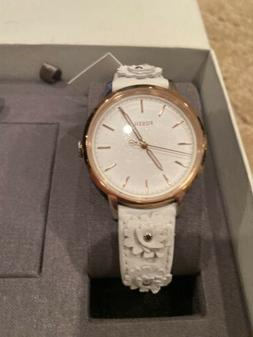 Fossil Women's 'Neely' Quartz Stainless Steel and Leather Ca