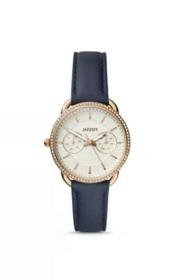 Fossil Women's 'Tailor' Quartz Stainless Steel and Leather C
