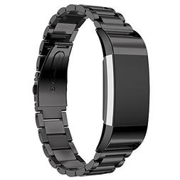 Maxjoy for Fitbit Charge 2 Bands, Charge2 Metal Strap Stainl