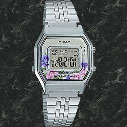 NEWEST Casio LA680WA-4C Women Mid-Size Silver Digital Retro