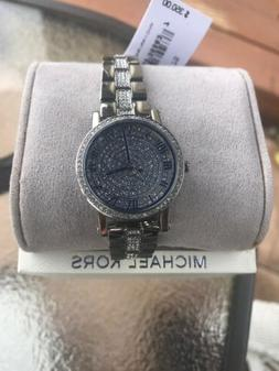 NWT💎in Box Michael Kors MK3775 Petite Norie Silver Stainl