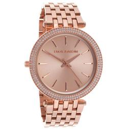 New Michael Kors Darci Rose Gold Tone Stainless Steel MK3192