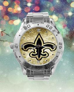 New Orleans Saints Custom Stainless Steel Analogue Men Or Wo