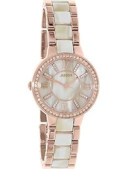 Fossil Women's Virginia ES3716 Two-Tone Stainless-Steel Plat