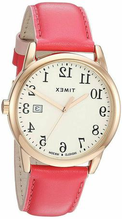 Timex Women's TW2R62500 Easy Reader 38mm Pink/Rose Gold-Tone