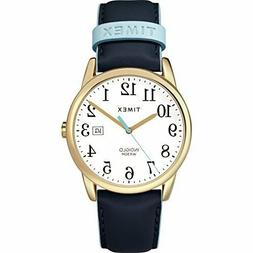 Timex Women's TW2R62600 Easy Reader 38mm Blue/Gold-Tone Leat