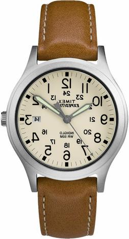 Timex Women's TW4B11000 Expedition Scout 36 Silver/Beige/Bro
