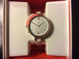 Women's Fossil Q Annette Hybrid Pink Leather SmartWatch FTW5