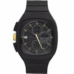 ADIDAS ADH9015 Men Women Square Watch Gold BLACK Silicone St