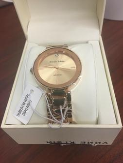 Anne Klein Women's AK/1362RGRG Rose Gold-Tone Diamond-Accent