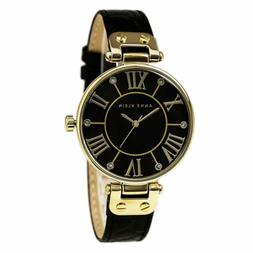 Anne Klein Women's AK/1396BMBK Gold-Tone Black Mother-Of-Pea