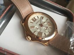 Fossil AM4532 Ladies Cecile Watch Rose Gold Tone Leather San