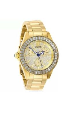 Invicta Angel 28448 Women's Gold-Tone Multi Dial Pave Watch