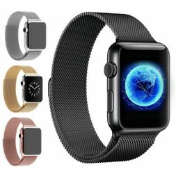For iWatch Apple Watch Series 3/2/1 Milanese Loop Band Stain