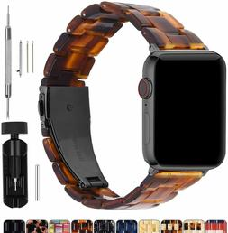 For Apple Watch Band 40mm/38mm Men Women Bright Resin Strap