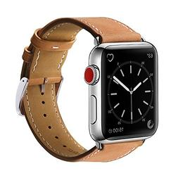 New Apple watch band Series 2 42mm Genuine Leather strap Rep