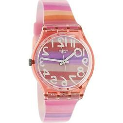 Swatch Atilbe Graphic Dial Plastic Quartz Ladies Watch GP140
