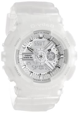 Casio Women's BA-110-7A2CR Baby-G Silver-Tone Analog-Digital