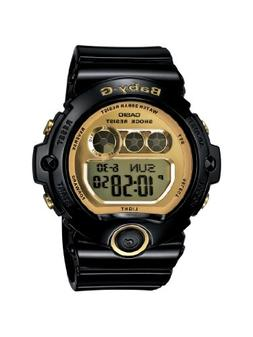 Casio Women's BG6901-1 Baby-G Black Resin and Gold-Tone Acce