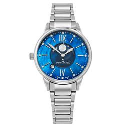 Alexander Blue Mother of Pearl Moon phase Face Swiss Made Wo
