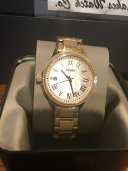 Fossil BQ3210 Blythe Rose Gold Dial Rose Gold Stainless Stee