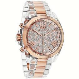 Michael Kors Women's MK5905 - Bradshaw White/Rose Gold One S
