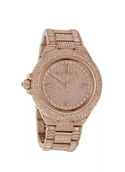 Brand New Michael Kors MK5862 Camille Rose Gold Tone Pave Gl