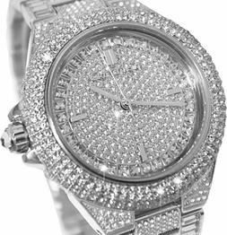 Michael Kors Camille Crystal Pave Dial Crystal Encrusted Lad