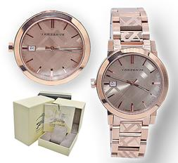 Burberry Check Stamped Bracelet Watch, 38mm - Rose Gold