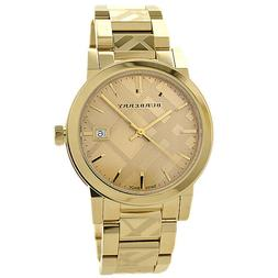 Burberry Check Stamped Bracelet Watch, 38mm - Gold